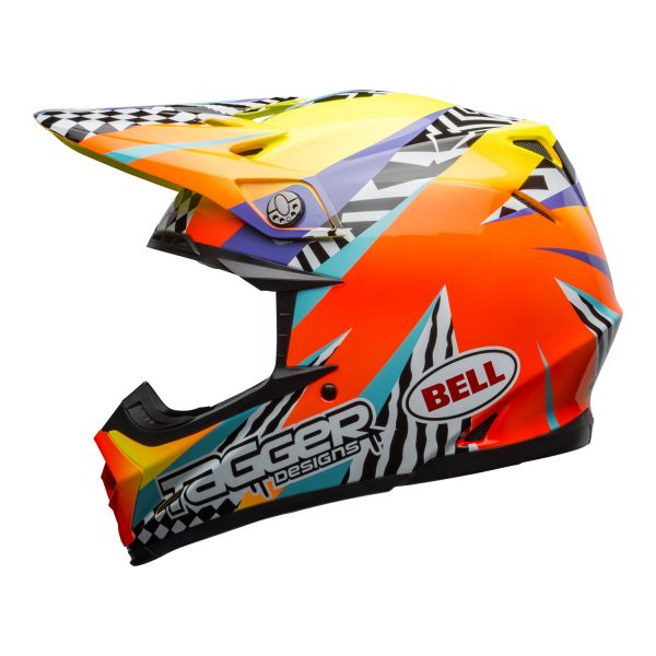 bell-moto-9-mips-dirt-helmet-tagger-breakout-gloss-orange-yellow-left.jpg-Bell MX 2021 Moto-9 Mips Adult Helmet (Tagger Breakout Orange/Yellow)