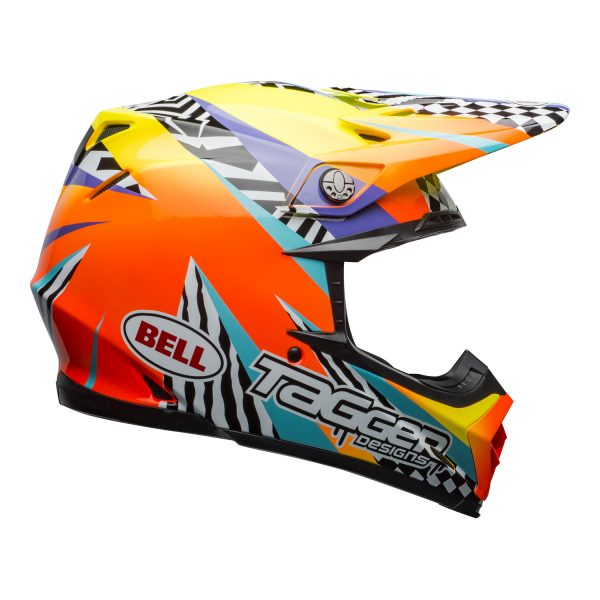 bell-moto-9-mips-dirt-helmet-tagger-breakout-gloss-orange-yellow-right.jpg-Bell MX 2021 Moto-9 Mips Adult Helmet (Tagger Breakout Orange/Yellow)