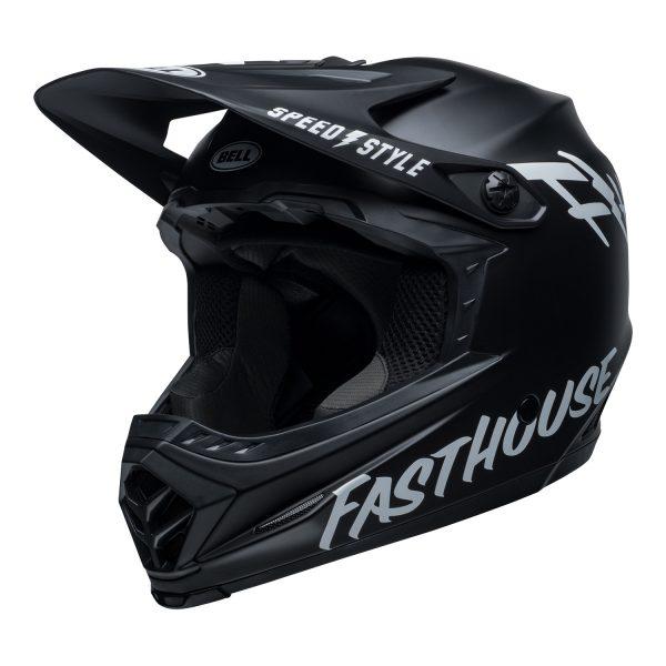 bell-moto-9-youth-mips-dirt-helmet-fasthouse-matte-black-white-front-left.jpg-Bell MX 2021 Moto-9 Youth MIPS (Fasthouse Helmet Matte Black/White)