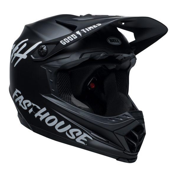 bell-moto-9-youth-mips-dirt-helmet-fasthouse-matte-black-white-front-right.jpg-Bell MX 2021 Moto-9 Youth MIPS (Fasthouse Helmet Matte Black/White)