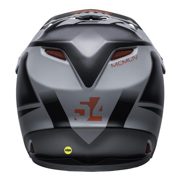 bell-moto-9-youth-mips-dirt-helmet-glory-matte-black-gray-crimson-back.jpg-Bell MX 2021 Moto-9 Youth MIPS Helmet (Glory Matte Black/Gray/Crimson)