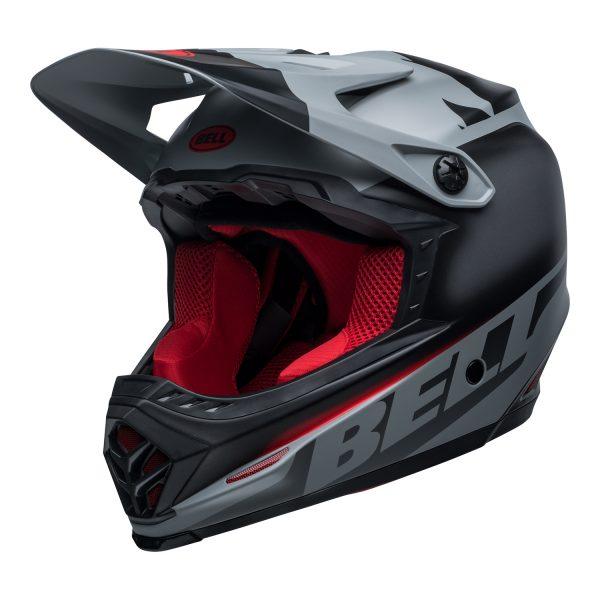 bell-moto-9-youth-mips-dirt-helmet-glory-matte-black-gray-crimson-front-left.jpg-Bell MX 2021 Moto-9 Youth MIPS Helmet (Glory Matte Black/Gray/Crimson)
