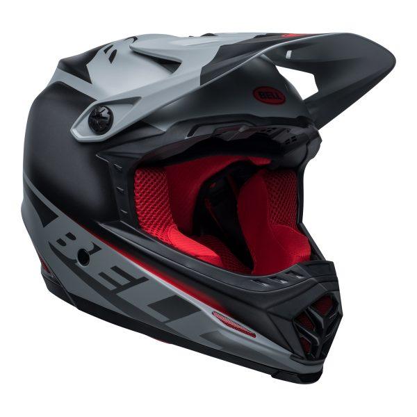 bell-moto-9-youth-mips-dirt-helmet-glory-matte-black-gray-crimson-front-right.jpg-Bell MX 2021 Moto-9 Youth MIPS Helmet (Glory Matte Black/Gray/Crimson)