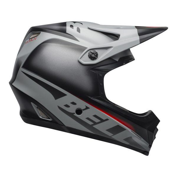 bell-moto-9-youth-mips-dirt-helmet-glory-matte-black-gray-crimson-right.jpg-Bell MX 2021 Moto-9 Youth MIPS Helmet (Glory Matte Black/Gray/Crimson)