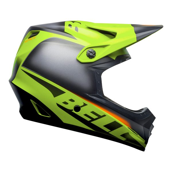 bell-moto-9-youth-mips-dirt-helmet-glory-matte-green-black-infrared-right.jpg-Bell MX 2021 Moto-9 Youth MIPS Helmet (Glory Matte Green/Black/Infrared)