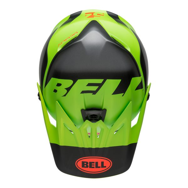 bell-moto-9-youth-mips-dirt-helmet-glory-matte-green-black-infrared-top.jpg-Bell MX 2021 Moto-9 Youth MIPS Helmet (Glory Matte Green/Black/Infrared)