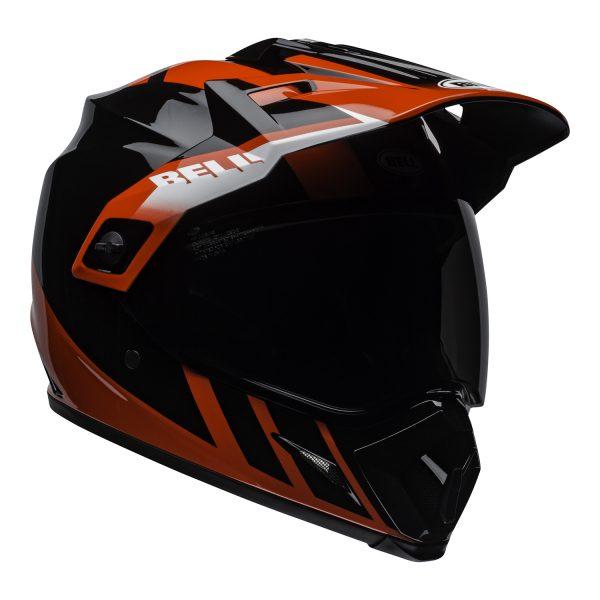 bell-mx-9-adventure-mips-dirt-helmet-dash-gloss-black-red-white-front-right.jpg-Bell MX 2021 MX-9 Adventure Mips Adult Helmet (Dash Black/Red/White)