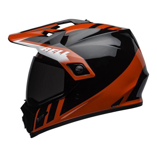 bell-mx-9-adventure-mips-dirt-helmet-dash-gloss-black-red-white-left.jpg-Bell MX 2021 MX-9 Adventure Mips Adult Helmet (Dash Black/Red/White)