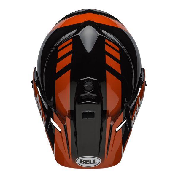 bell-mx-9-adventure-mips-dirt-helmet-dash-gloss-black-red-white-top.jpg-Bell MX 2021 MX-9 Adventure Mips Adult Helmet (Dash Black/Red/White)