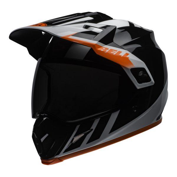 bell-mx-9-adventure-mips-dirt-helmet-dash-gloss-black-white-orange-front-left.jpg-Bell MX 2021 MX-9 Adventure Mips Adult Helmet (Dash Black/White/Orange)