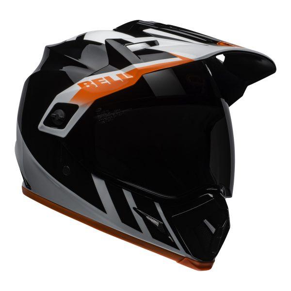 bell-mx-9-adventure-mips-dirt-helmet-dash-gloss-black-white-orange-front-right.jpg-Bell MX 2021 MX-9 Adventure Mips Adult Helmet (Dash Black/White/Orange)