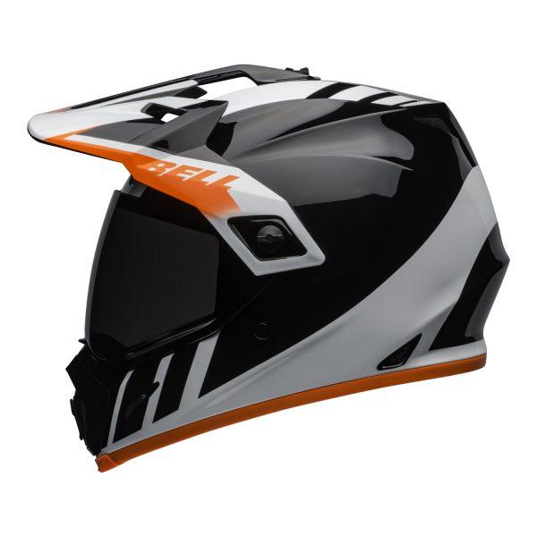 bell-mx-9-adventure-mips-dirt-helmet-dash-gloss-black-white-orange-left.jpg-Bell MX 2021 MX-9 Adventure Mips Adult Helmet (Dash Black/White/Orange)