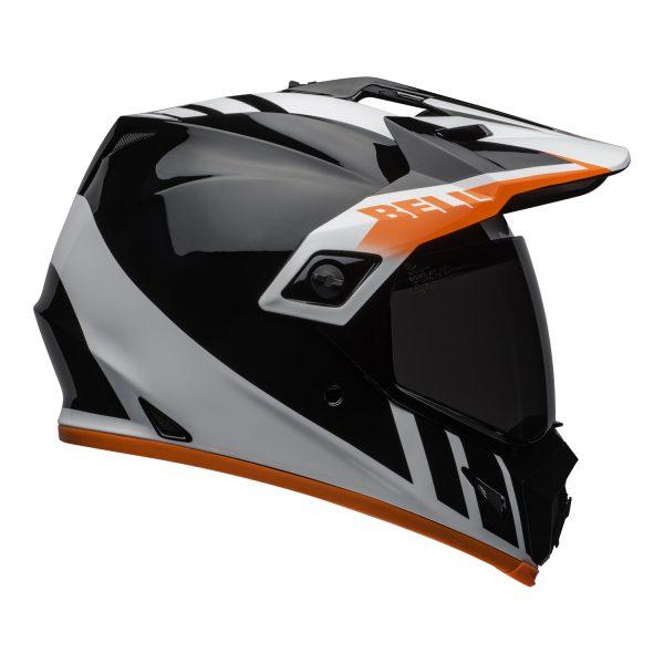 bell-mx-9-adventure-mips-dirt-helmet-dash-gloss-black-white-orange-right.jpg-Bell MX 2021 MX-9 Adventure Mips Adult Helmet (Dash Black/White/Orange)