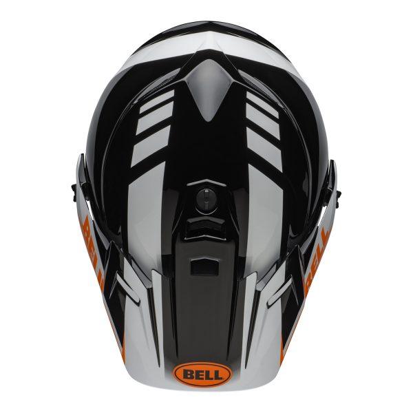 bell-mx-9-adventure-mips-dirt-helmet-dash-gloss-black-white-orange-top.jpg-Bell MX 2021 MX-9 Adventure Mips Adult Helmet (Dash Black/White/Orange)