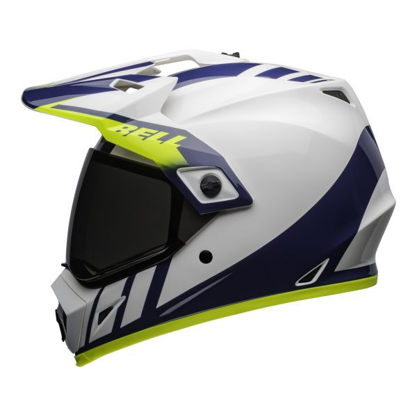 bell-mx-9-adventure-mips-dirt-helmet-dash-gloss-white-blue-hi-viz-left.jpg-Bell MX 2021 MX-9 Adventure Mips Adult Helmet (Dash White/Blue/Hi Viz)