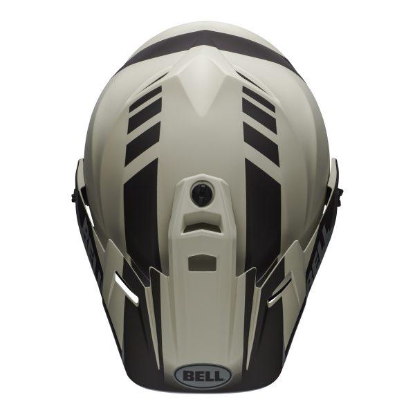 bell-mx-9-adventure-mips-dirt-helmet-dash-matte-sand-brown-gray-top.jpg-Bell MX 2021 MX-9 Adventure Mips Adult Helmet (Dash Sand/Brown/Grey)