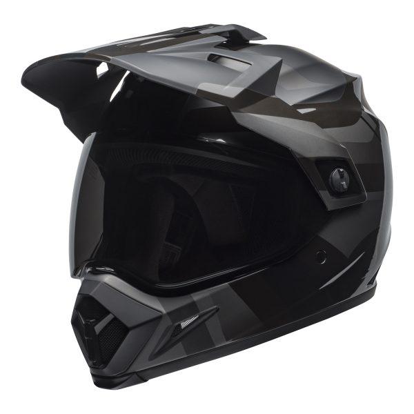 bell-mx-9-adventure-mips-dirt-helmet-marauder-matte-gloss-blackout-front-left.jpg-Bell MX 2021 MX-9 Adventure Mips Adult Helmet (Blackout Matte/Gloss Black)