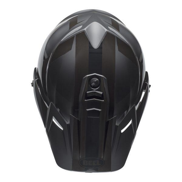 bell-mx-9-adventure-mips-dirt-helmet-marauder-matte-gloss-blackout-top.jpg-Bell MX 2021 MX-9 Adventure Mips Adult Helmet (Blackout Matte/Gloss Black)