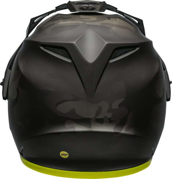 bell-mx-9-adventure-mips-dirt-helmet-stealth-camo-matte-black-hi-viz-back-BELL MX-9 ADVENTURE MIPS STEALTH CAMO MATT BLACK/HI-VIZ