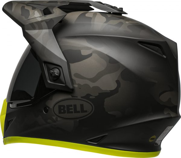 bell-mx-9-adventure-mips-dirt-helmet-stealth-camo-matte-black-hi-viz-back-left-BELL MX-9 ADVENTURE MIPS STEALTH CAMO MATT BLACK/HI-VIZ