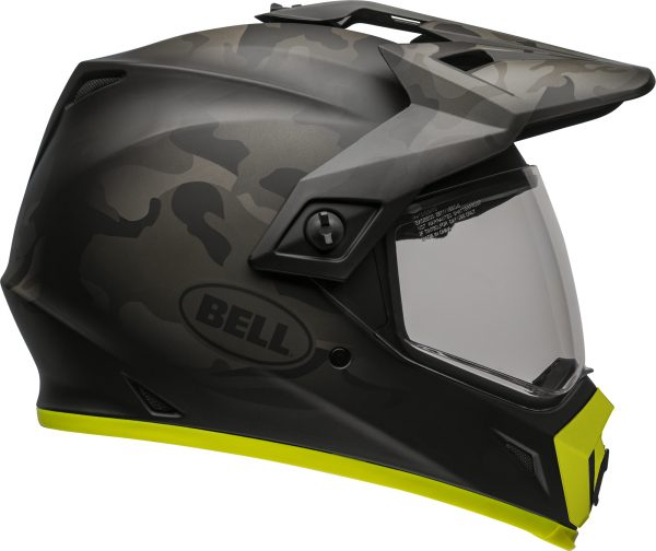 bell-mx-9-adventure-mips-dirt-helmet-stealth-camo-matte-black-hi-viz-clear-shield-right-BELL MX-9 ADVENTURE MIPS STEALTH CAMO MATT BLACK/HI-VIZ