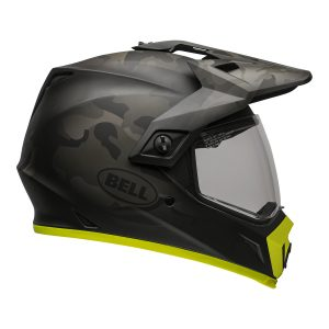 BELL MX-9 ADVENTURE MIPS STEALTH CAMO MATT BLACK/HI-VIZ