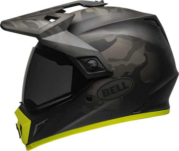 bell-mx-9-adventure-mips-dirt-helmet-stealth-camo-matte-black-hi-viz-left-BELL MX-9 ADVENTURE MIPS STEALTH CAMO MATT BLACK/HI-VIZ