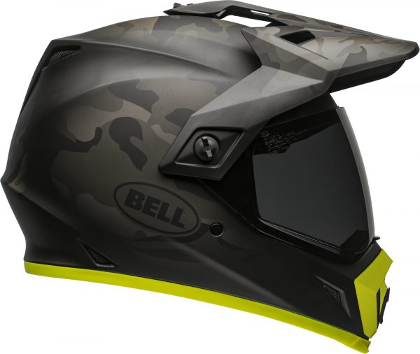 bell-mx-9-adventure-mips-dirt-helmet-stealth-camo-matte-black-hi-viz-right-BELL MX-9 ADVENTURE MIPS STEALTH CAMO MATT BLACK/HI-VIZ