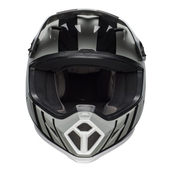 bell-mx-9-mips-dirt-helmet-dash-gloss-gray-black-white-front.jpg-Bell MX 2021 MX-9 Mips Adult Helmet (Dash Gray/Black/White)