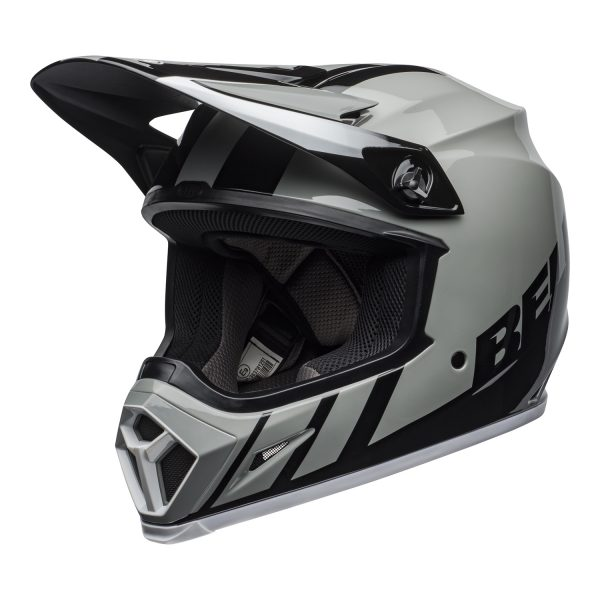 bell-mx-9-mips-dirt-helmet-dash-gloss-gray-black-white-front-left.jpg-Bell MX 2021 MX-9 Mips Adult Helmet (Dash Gray/Black/White)
