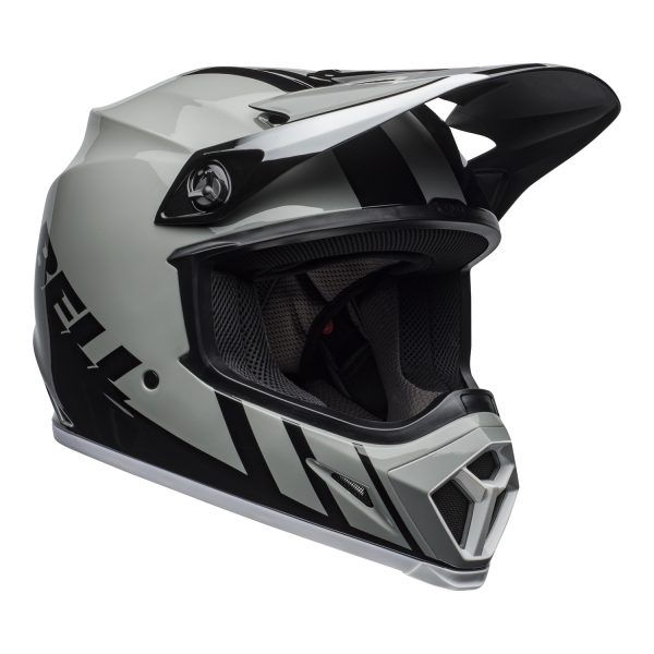 bell-mx-9-mips-dirt-helmet-dash-gloss-gray-black-white-front-right.jpg-Bell MX 2021 MX-9 Mips Adult Helmet (Dash Gray/Black/White)
