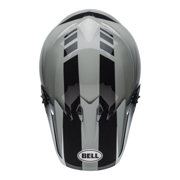 bell-mx-9-mips-dirt-helmet-dash-gloss-gray-black-white-top.jpg-Bell MX 2021 MX-9 Mips Adult Helmet (Dash Gray/Black/White)