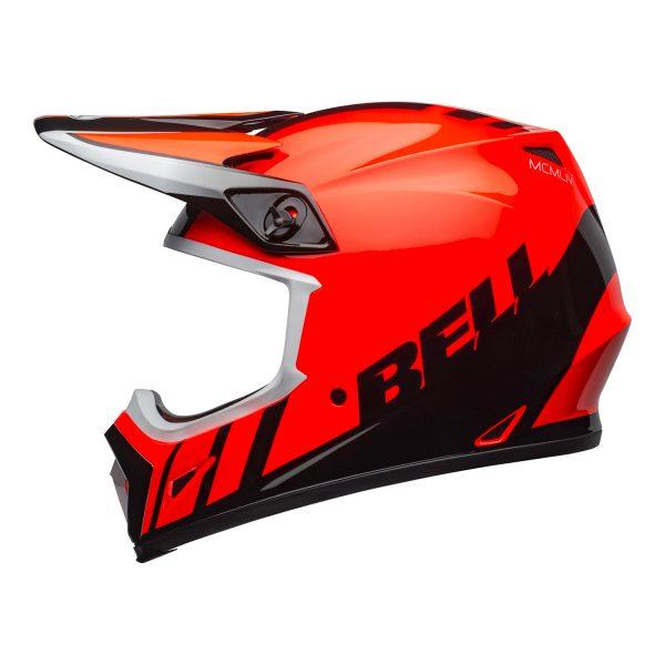 bell-mx-9-mips-dirt-helmet-dash-gloss-orange-black-left.jpg-Bell MX 2021 MX-9 Mips Adult Helmet (Dash Orange/Black)