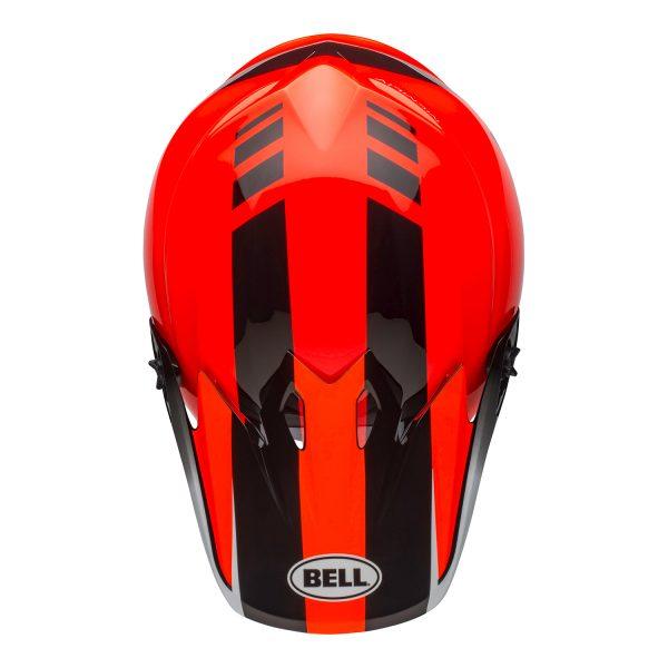 bell-mx-9-mips-dirt-helmet-dash-gloss-orange-black-top.jpg-Bell MX 2021 MX-9 Mips Adult Helmet (Dash Orange/Black)