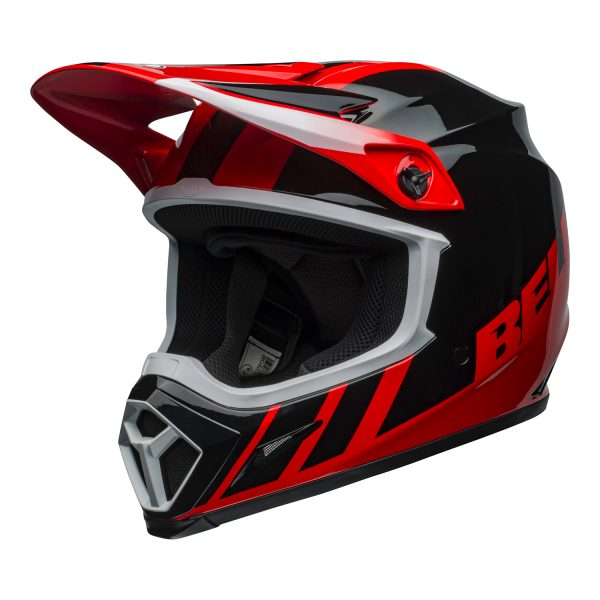 bell-mx-9-mips-dirt-helmet-dash-gloss-red-black-front-left.jpg-Bell MX 2021 MX-9 Mips Adult Helmet (Dash Red/Black)