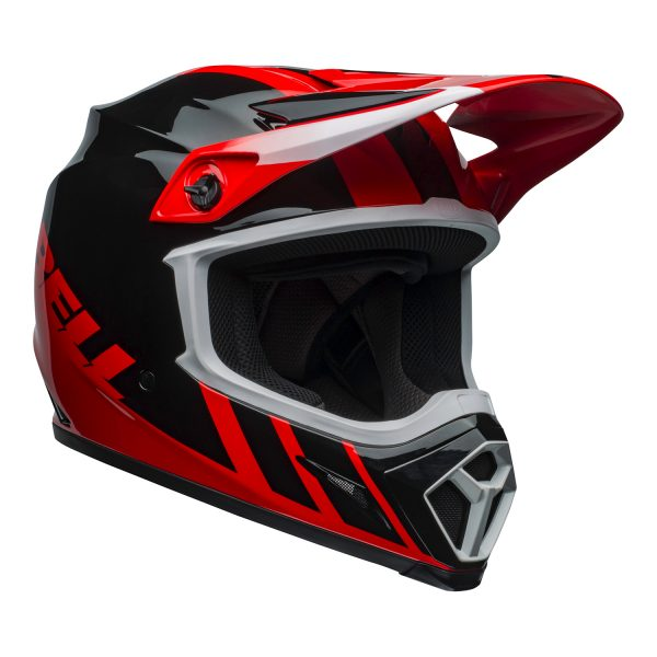 bell-mx-9-mips-dirt-helmet-dash-gloss-red-black-front-right.jpg-Bell MX 2021 MX-9 Mips Adult Helmet (Dash Red/Black)
