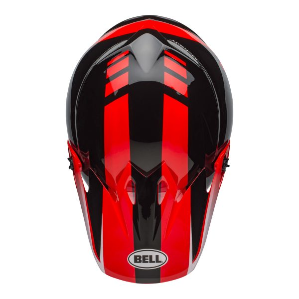 bell-mx-9-mips-dirt-helmet-dash-gloss-red-black-top.jpg-Bell MX 2021 MX-9 Mips Adult Helmet (Dash Red/Black)