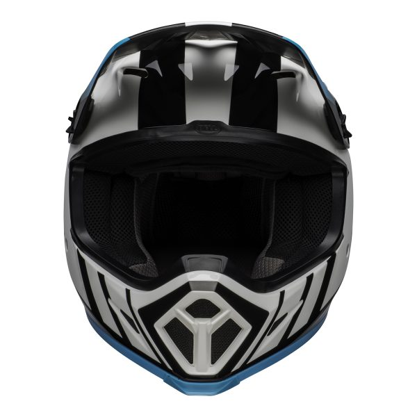 bell-mx-9-mips-dirt-helmet-dash-gloss-white-blue-front.jpg-Bell MX 2021 MX-9 Mips Adult Helmet (Dash White/Blue)