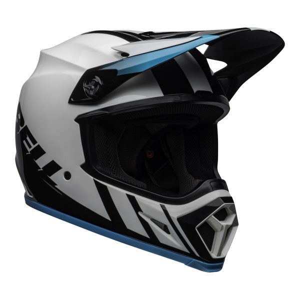 bell-mx-9-mips-dirt-helmet-dash-gloss-white-blue-front-right.jpg-Bell MX 2021 MX-9 Mips Adult Helmet (Dash White/Blue)