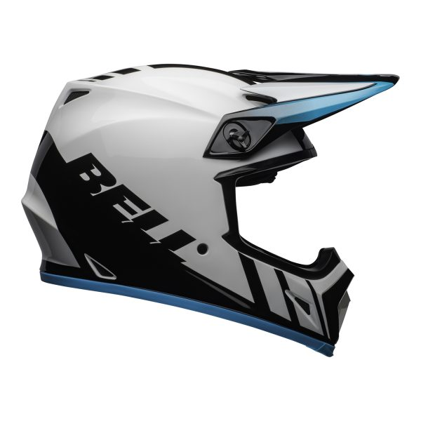 bell-mx-9-mips-dirt-helmet-dash-gloss-white-blue-right.jpg-Bell MX 2021 MX-9 Mips Adult Helmet (Dash White/Blue)