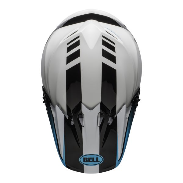 bell-mx-9-mips-dirt-helmet-dash-gloss-white-blue-top.jpg-Bell MX 2021 MX-9 Mips Adult Helmet (Dash White/Blue)