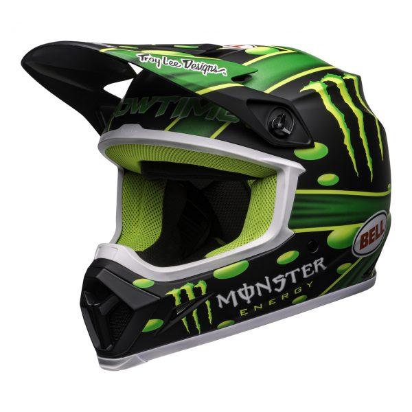 bell-mx-9-mips-dirt-helmet-mcgrath-showtime-replica-matte-black-green-front-left__06961.1558520765.jpg-Bell MX 2021 MX-9 MIPS Adult Helmet (Mcgrath Showtime Black/Green)