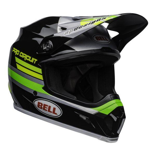 bell-mx-9-mips-dirt-helmet-pro-circuit-replica-20-gloss-black-green-front-right.jpg-Bell MX 2021 MX-9 Mips Adult Helmet (PC Black/Green)