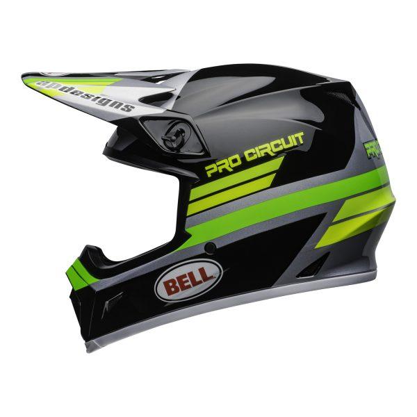bell-mx-9-mips-dirt-helmet-pro-circuit-replica-20-gloss-black-green-left.jpg-Bell MX 2021 MX-9 Mips Adult Helmet (PC Black/Green)