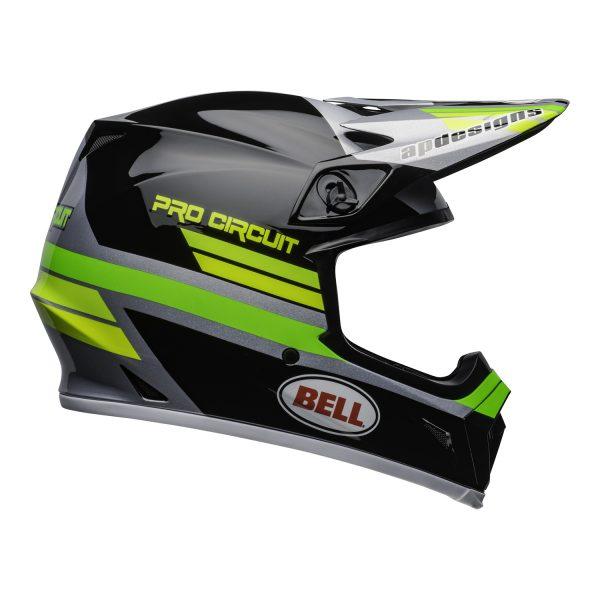 bell-mx-9-mips-dirt-helmet-pro-circuit-replica-20-gloss-black-green-right.jpg-Bell MX 2021 MX-9 Mips Adult Helmet (PC Black/Green)