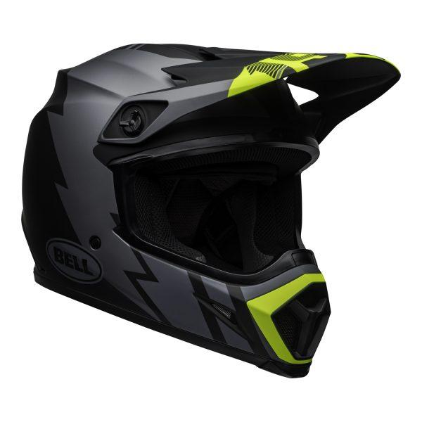 bell-mx-9-mips-dirt-helmet-strike-matte-gray-black-hi-viz-front-right.jpg-Bell MX 2021 MX-9 Mips Adult Helmet (Strike Matte Grey/Black/Hi Viz)