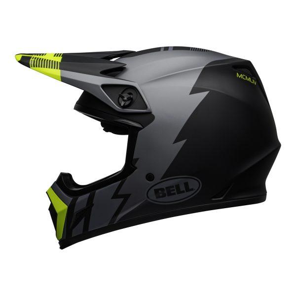 bell-mx-9-mips-dirt-helmet-strike-matte-gray-black-hi-viz-left.jpg-Bell MX 2021 MX-9 Mips Adult Helmet (Strike Matte Grey/Black/Hi Viz)