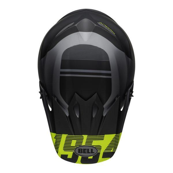 bell-mx-9-mips-dirt-helmet-strike-matte-gray-black-hi-viz-top.jpg-Bell MX 2021 MX-9 Mips Adult Helmet (Strike Matte Grey/Black/Hi Viz)