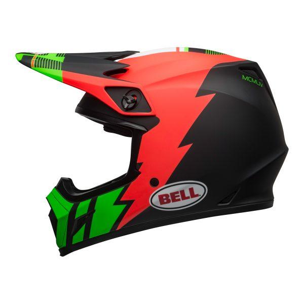 bell-mx-9-mips-dirt-helmet-strike-matte-infrared-green-black-left.jpg-Bell MX 2021 MX-9 Mips Adult Helmet (Strike Matte Infrared/Green/Black)