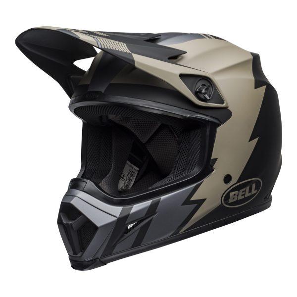 bell-mx-9-mips-dirt-helmet-strike-matte-khaki-black-front-left.jpg-Bell MX 2021 MX-9 Mips Adult Helmet (Strike Matte Khaki/Black)